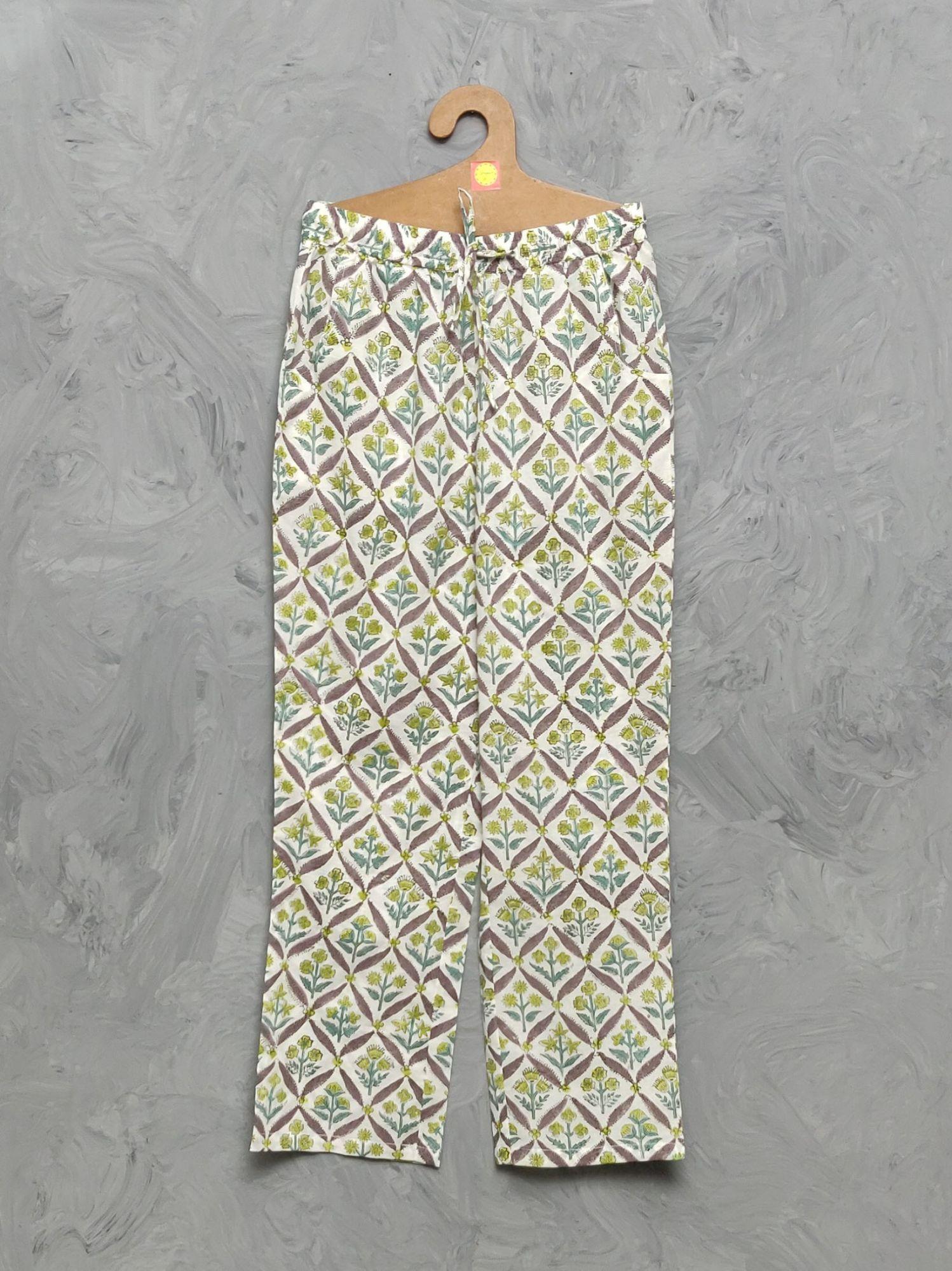 Cotton Handblock Print Night Suits WNS390