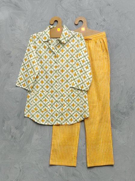 Cotton Handblock Print Night Suits WNS392