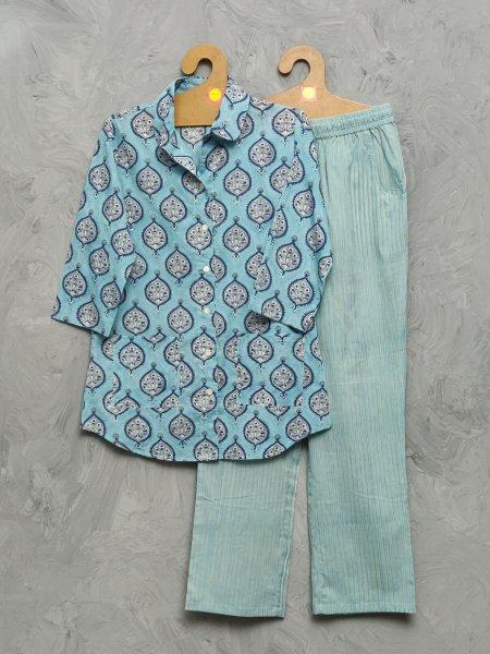 Cotton Handblock Print Night Suits WNS395