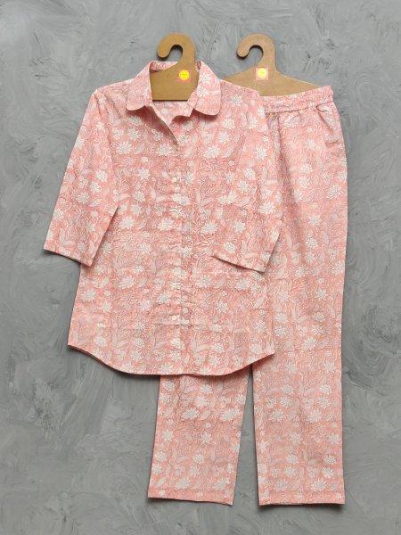 Cotton Handblock Print Night Suits WNS396