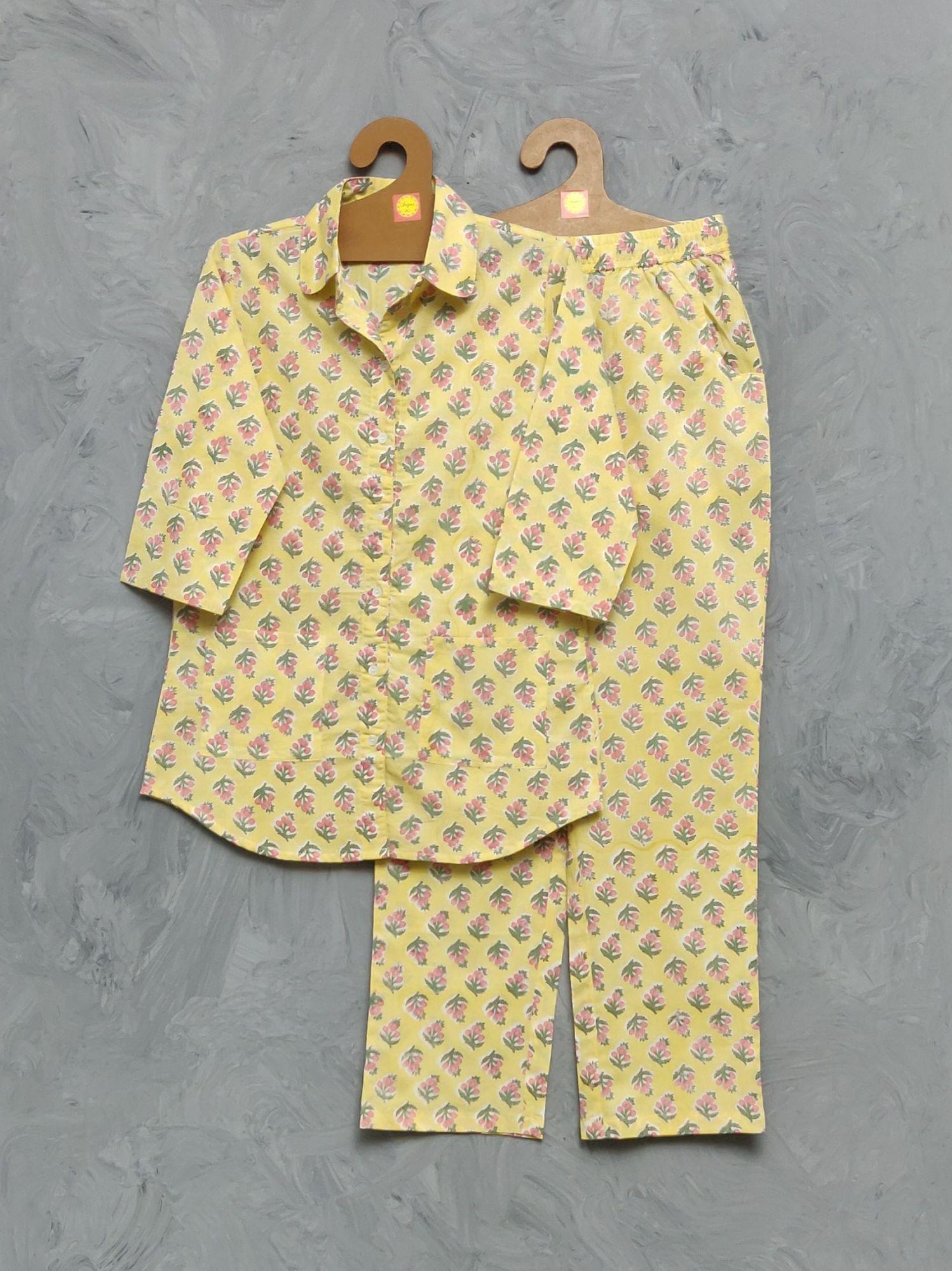 Cotton Handblock Print Night Suits WNS410