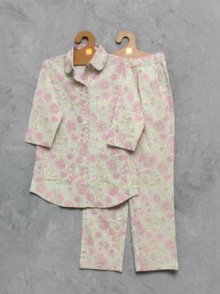 Cotton Handblock Print Night Suits WNS415