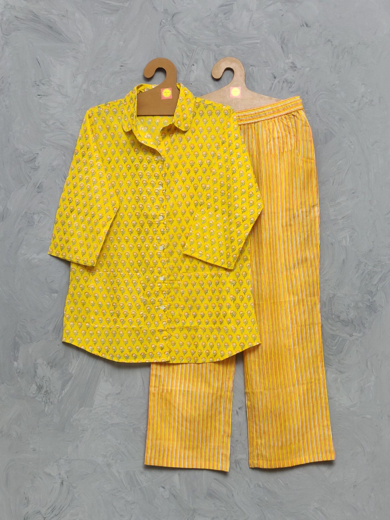 Cotton Handblock Print Night Suits WNS416