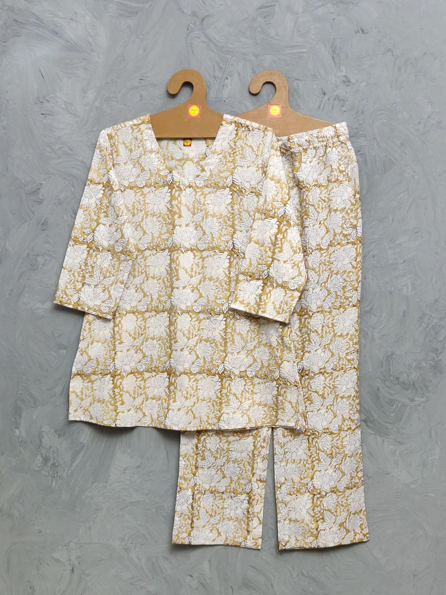 Cotton Handblock Print Night Suits WNS418