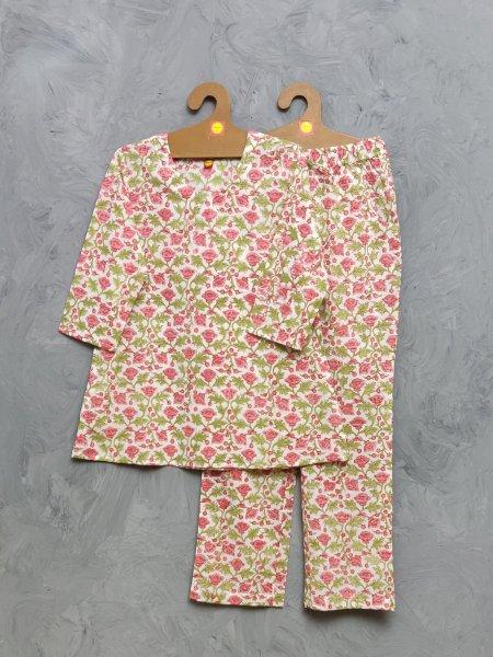Cotton Handblock Print Night Suits WNS421