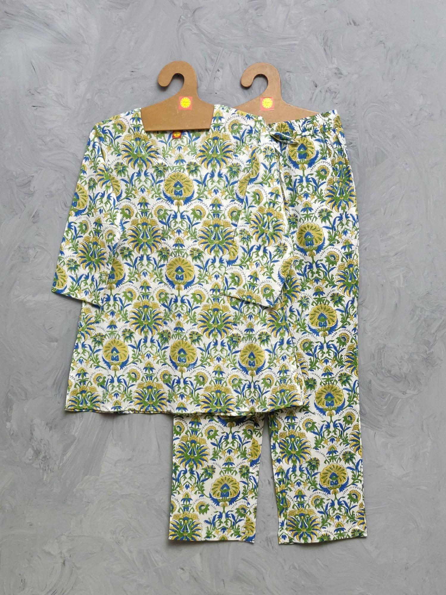 Cotton Handblock Print Night Suits WNS422