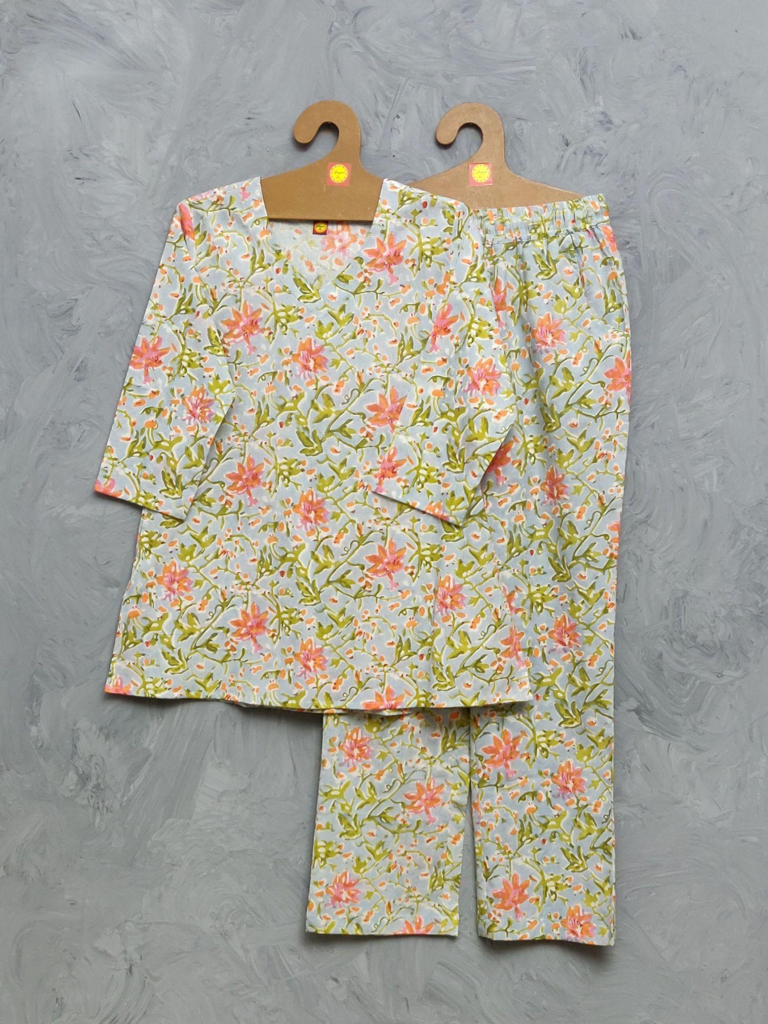 Cotton Handblock Print Night Suits WNS434