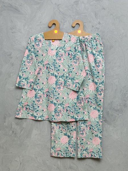 Cotton Handblock Print Night Suits WNS437