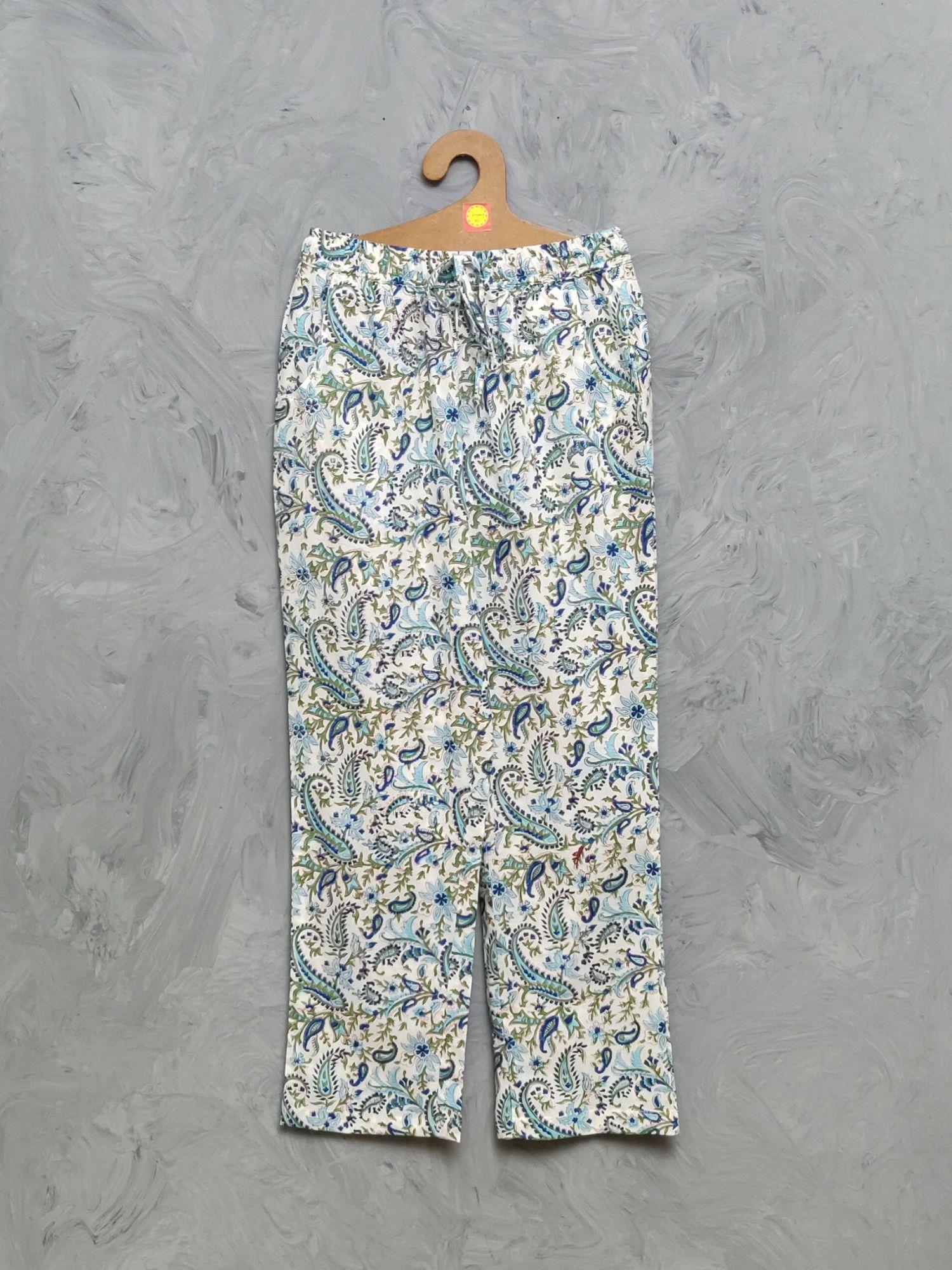 Cotton Handblock Print Night Suits WNS440