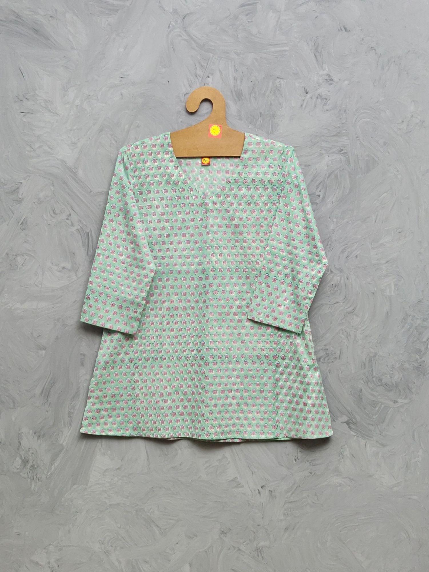 Cotton Handblock Print Night Suits WNS441