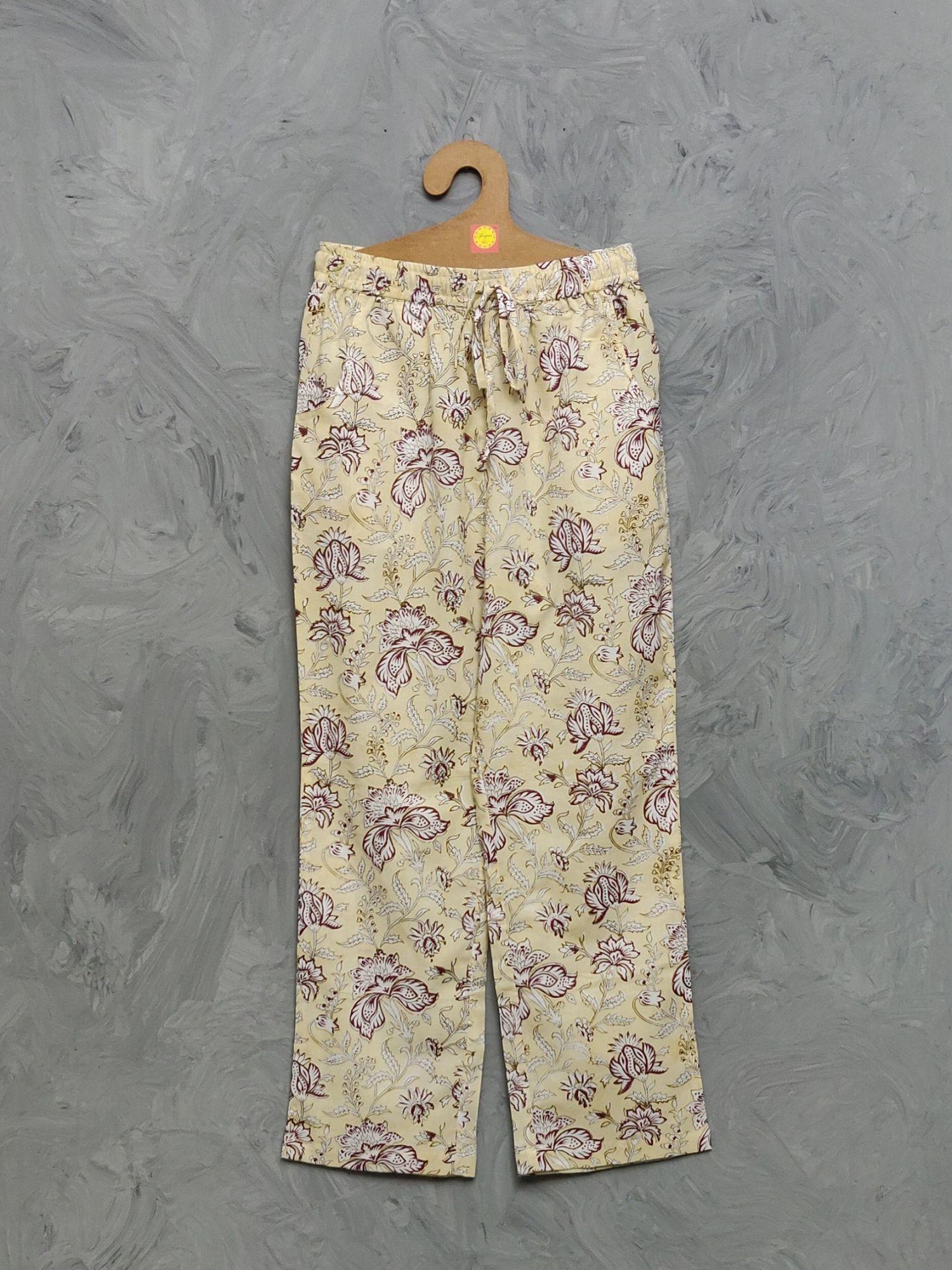 Cotton Handblock Print Night Suits WNS448