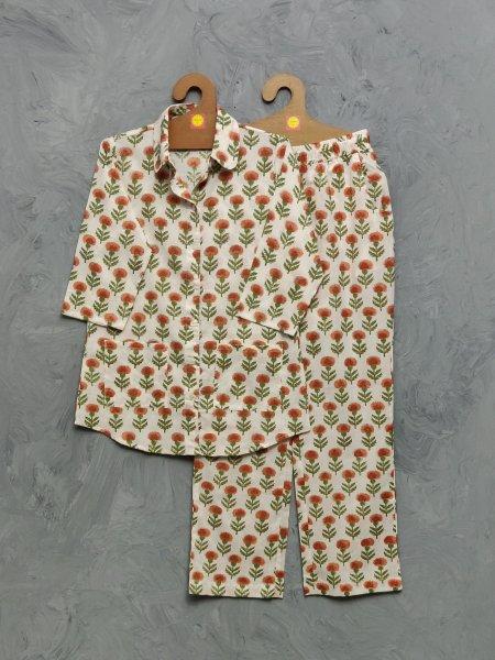 Cotton Handblock Print Night Suits WNS450