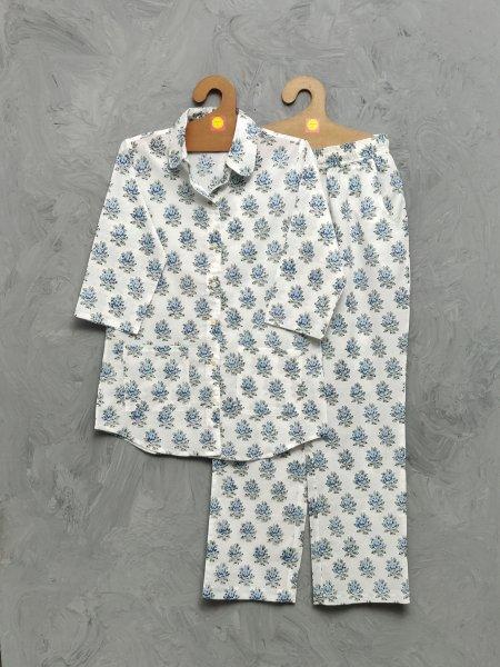 Cotton Handblock Print Night Suits WNS455