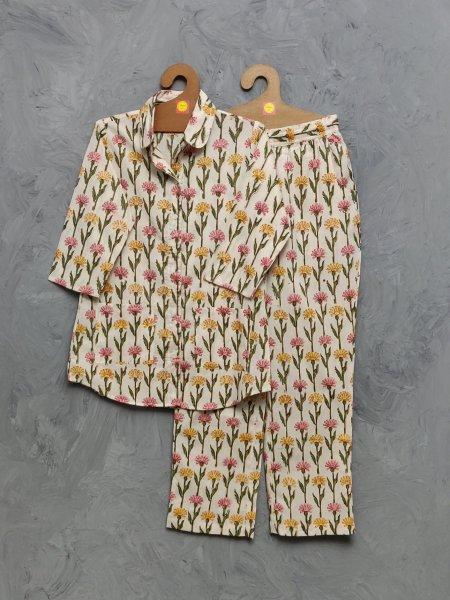 Cotton Handblock Print Night Suits WNS461