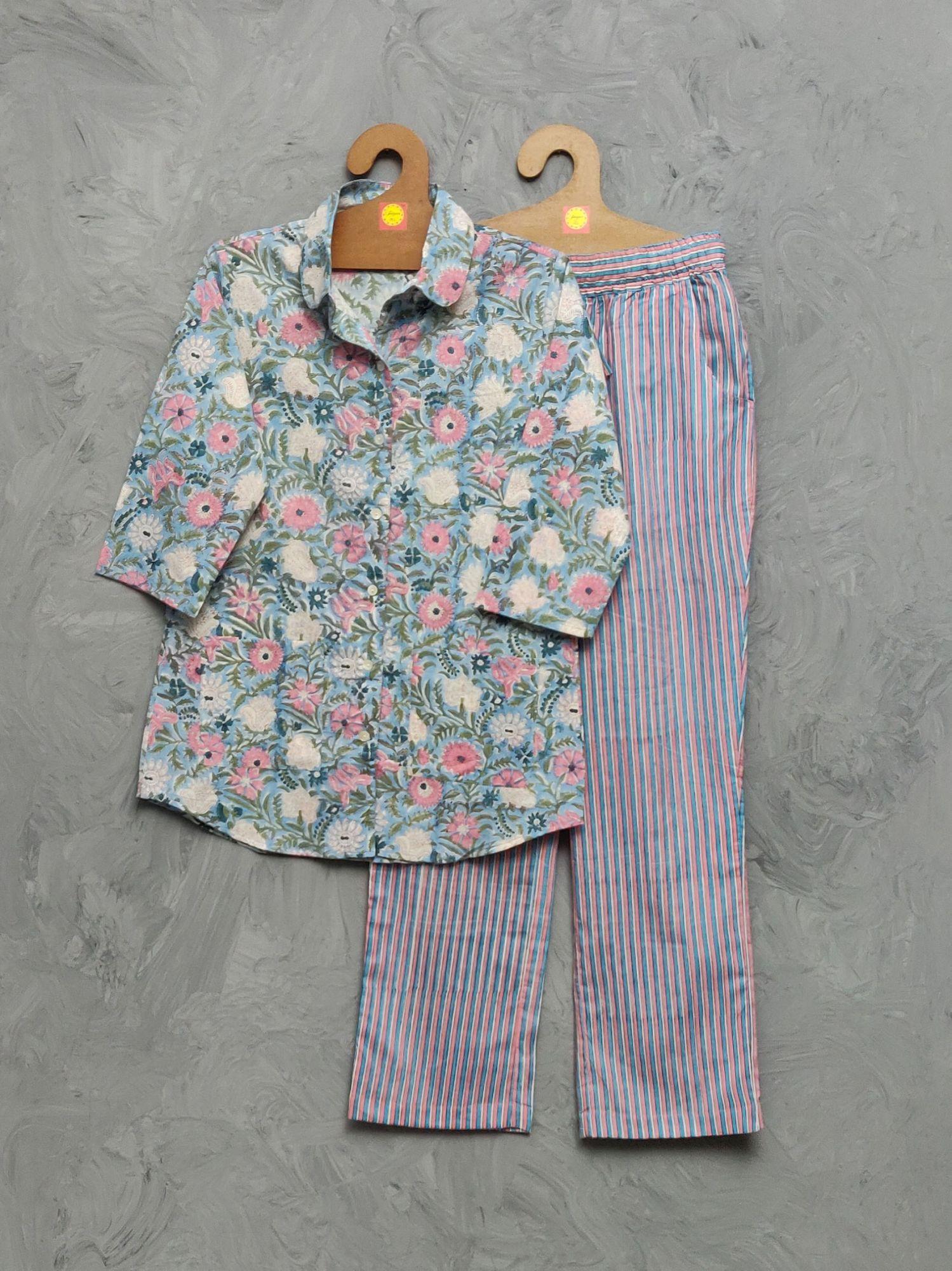 Cotton Handblock Print Night Suits WNS462