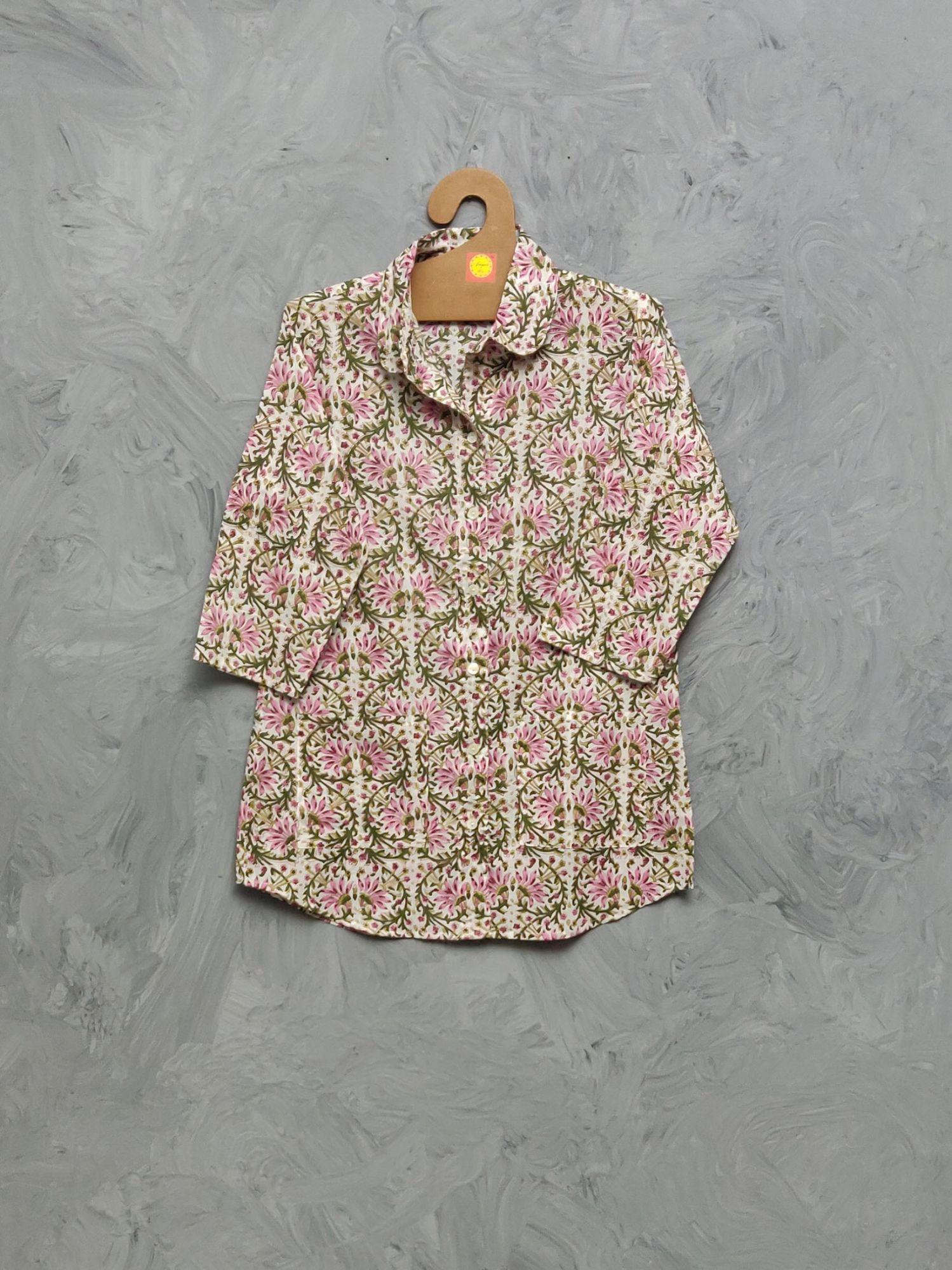 Cotton Handblock Print Night Suits WNS463