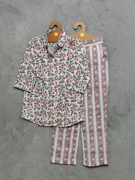 Cotton Handblock Print Night Suits WNS466