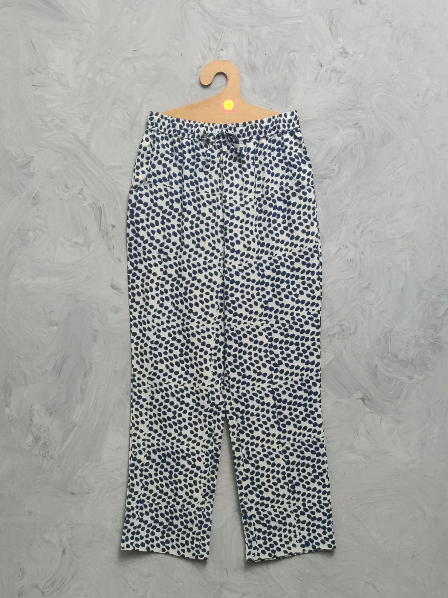 Indigo Cotton Handblock Print Night Suits WNS477