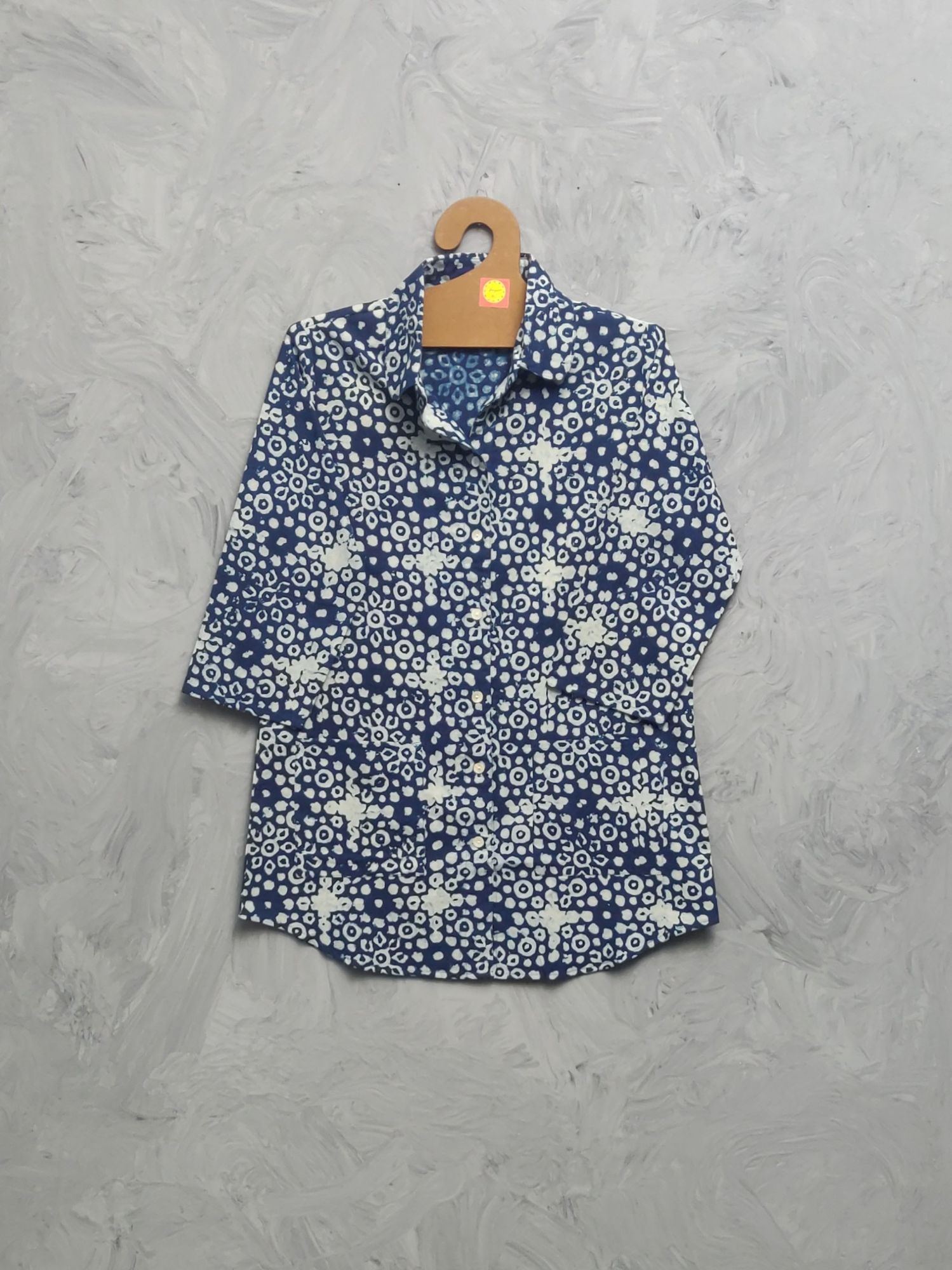 Indigo Cotton Handblock Print Night Suits WNS480