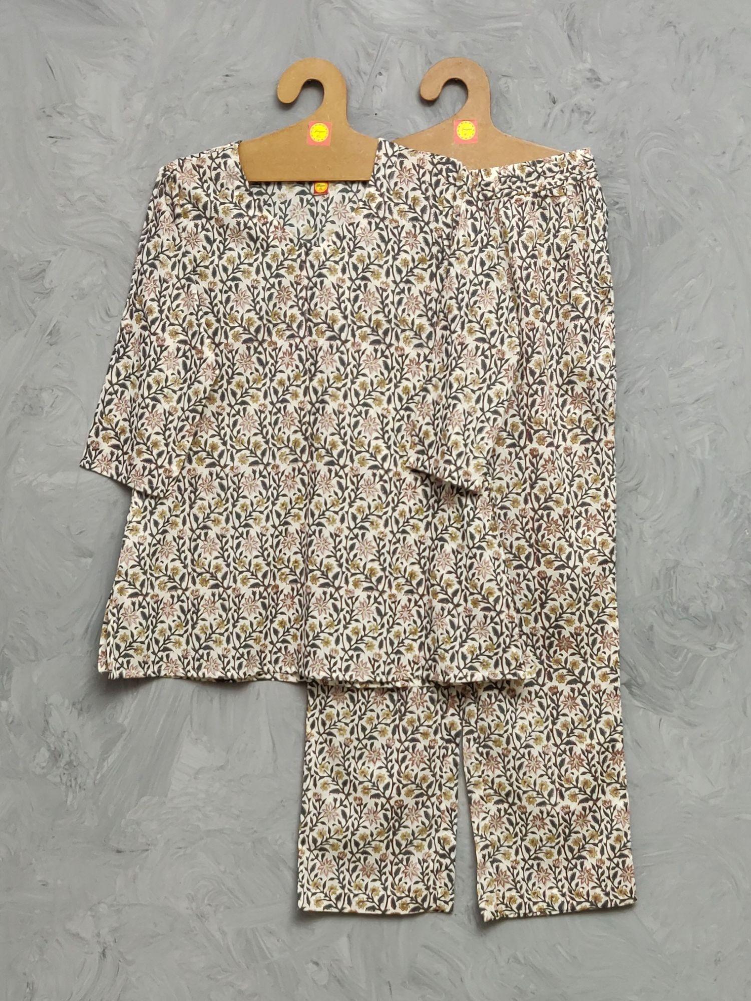 Cotton Handblock Print Night Suits WNS484