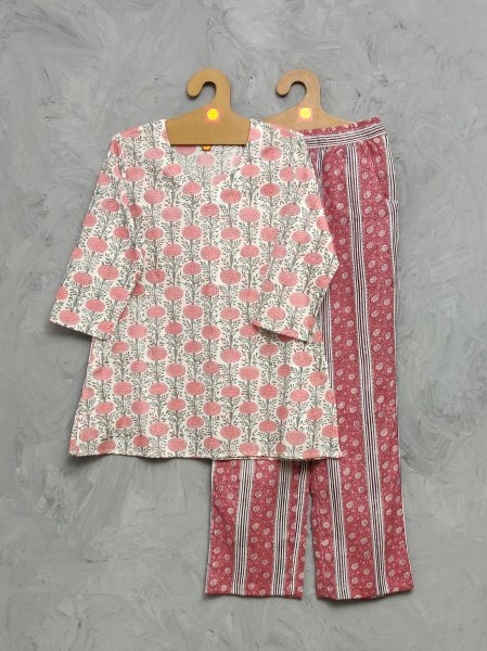 Cotton Handblock Print Night Suits WNS488