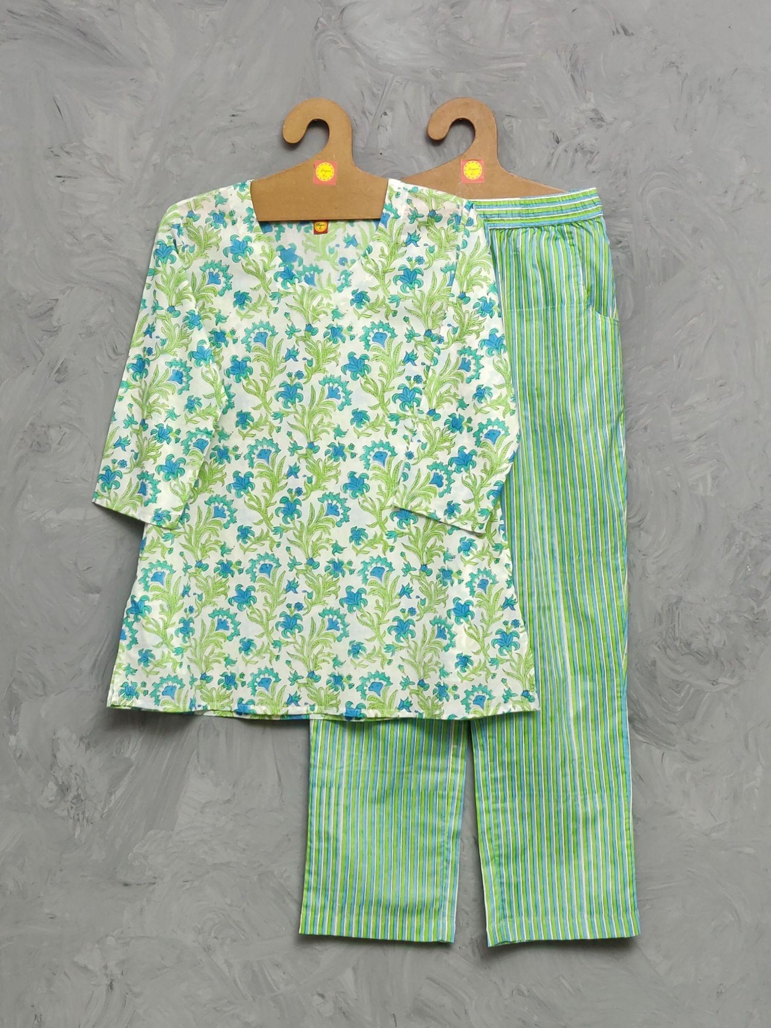 Cotton Handblock Print Night Suits WNS492