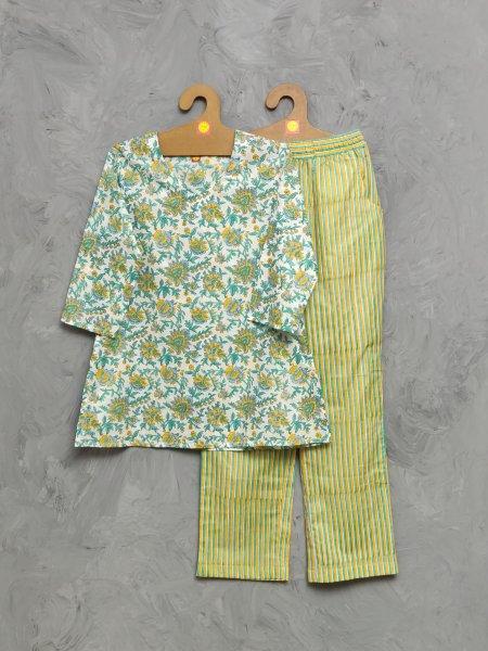 Cotton Handblock Print Night Suits WNS499