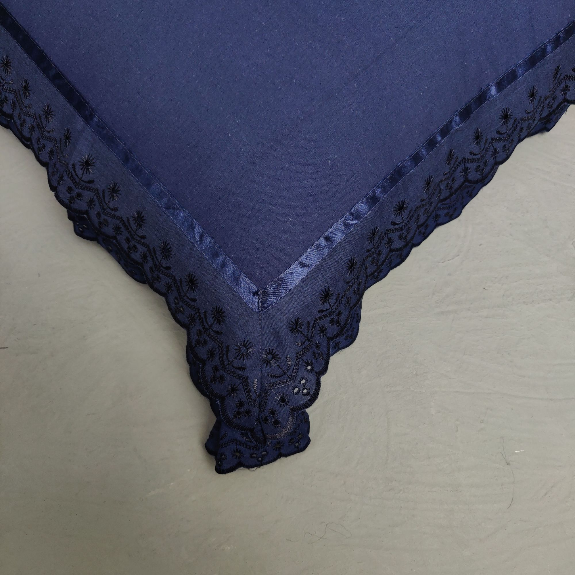 Double Lace Navy Blue Pillow Cover