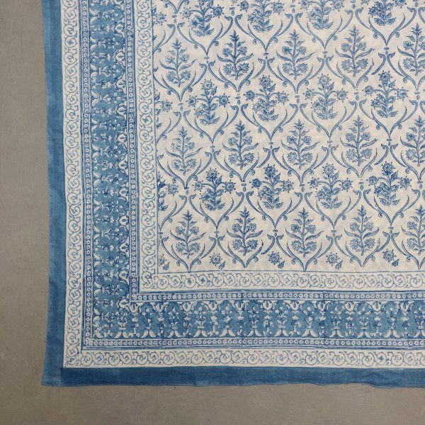 Printed Handblock Mulmul Single Size Quilt Cover QCP2