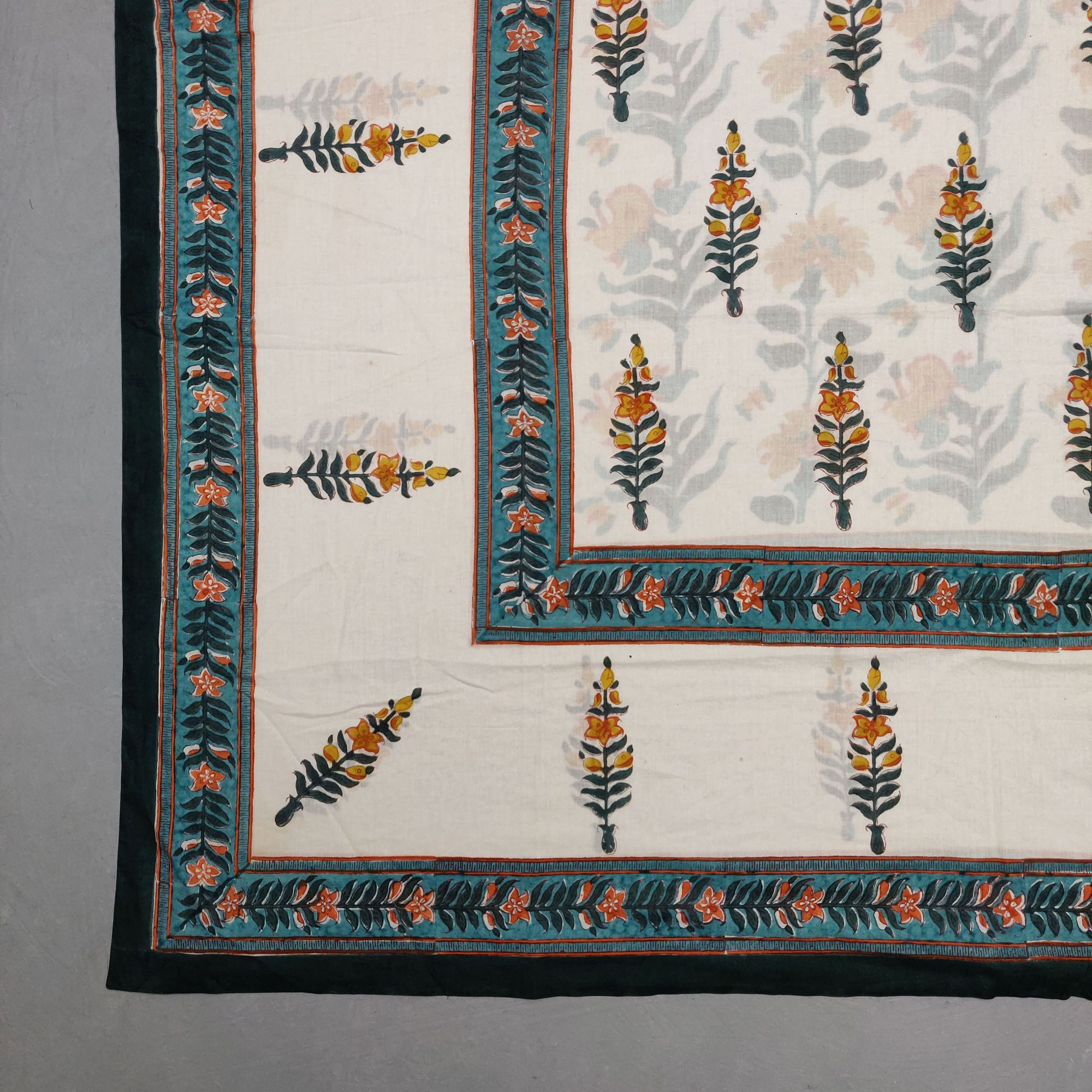Printed Handblock Mulmul Single Size Quilt Cover QCP3