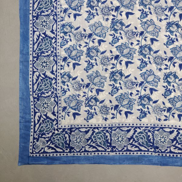 Printed Handblock Mulmul Single Size Quilt Cover QCP4