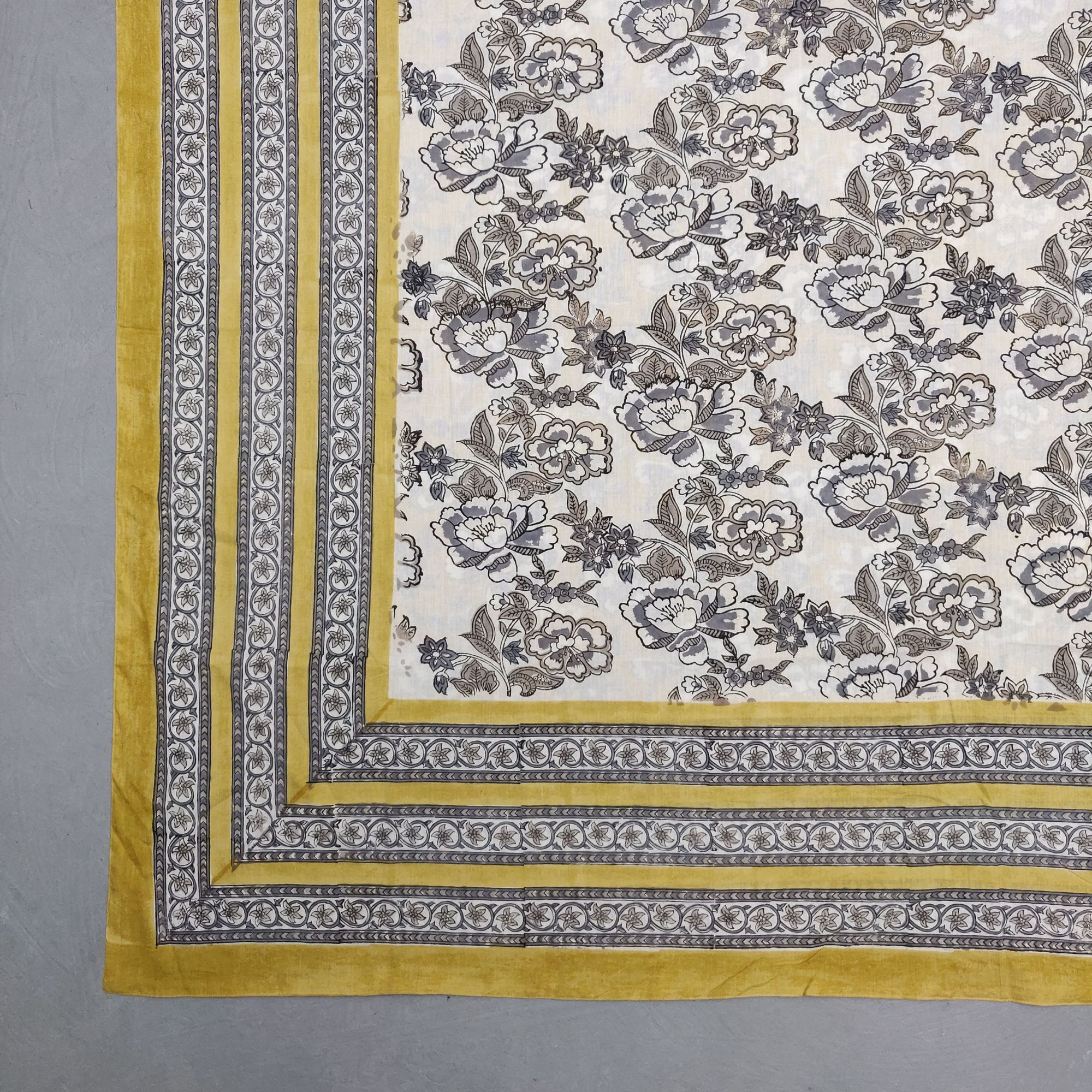 Printed Handblock Mulmul Single Size Quilt Cover QCP5