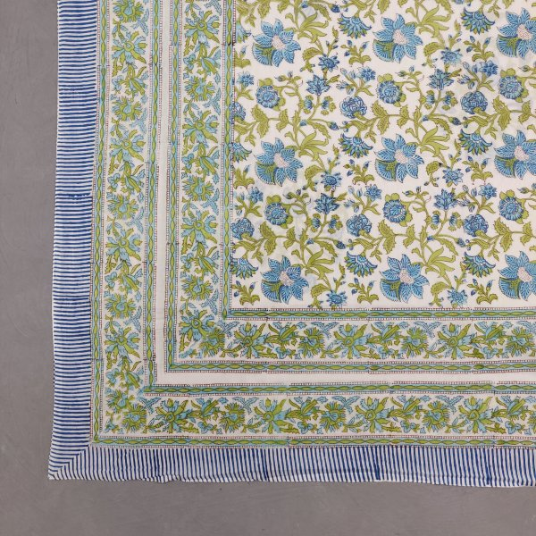 Printed Handblock Mulmul Single Size Quilt Cover QCP6