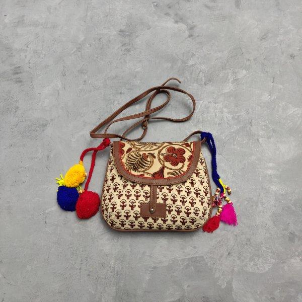 Floral Printed Braided Sling Bag SLB23