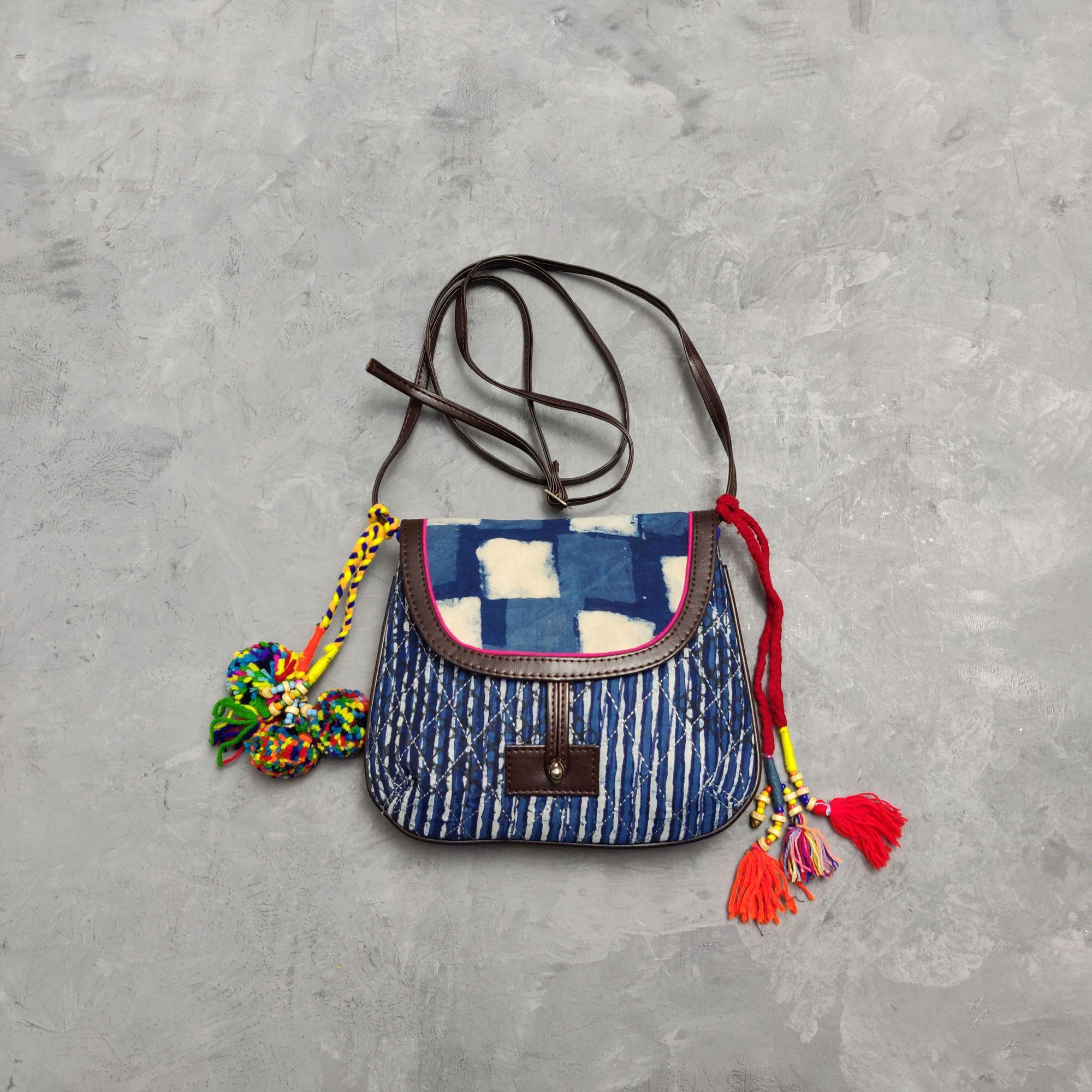 Floral Printed Braided Sling Bag SLB25
