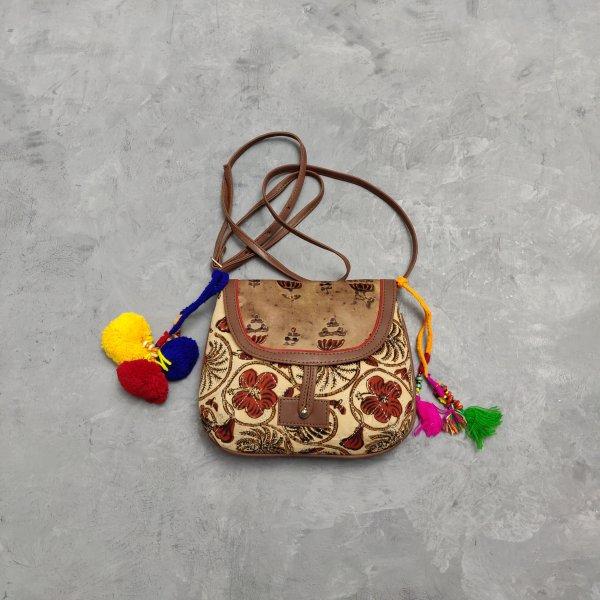 Floral Printed Braided Sling Bag SLB27