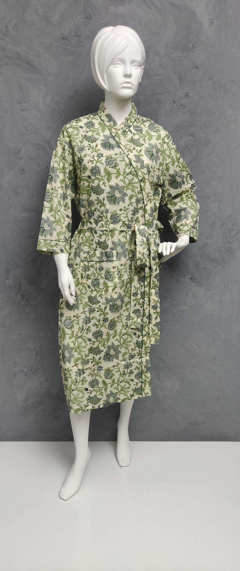 Handblock Housecoat/ Cotton Robe HCCR100