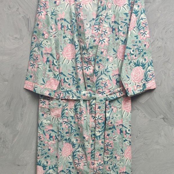 Handblock Housecoat/ Cotton Robe HCCR103