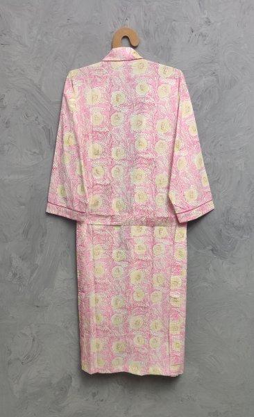 Handblock Housecoat/ Cotton Robe HCCR104