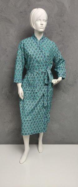 Handblock Housecoat/ Cotton Robe HCCR106
