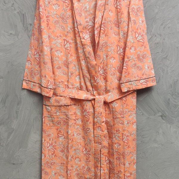 Handblock Housecoat/ Cotton Robe HCCR107