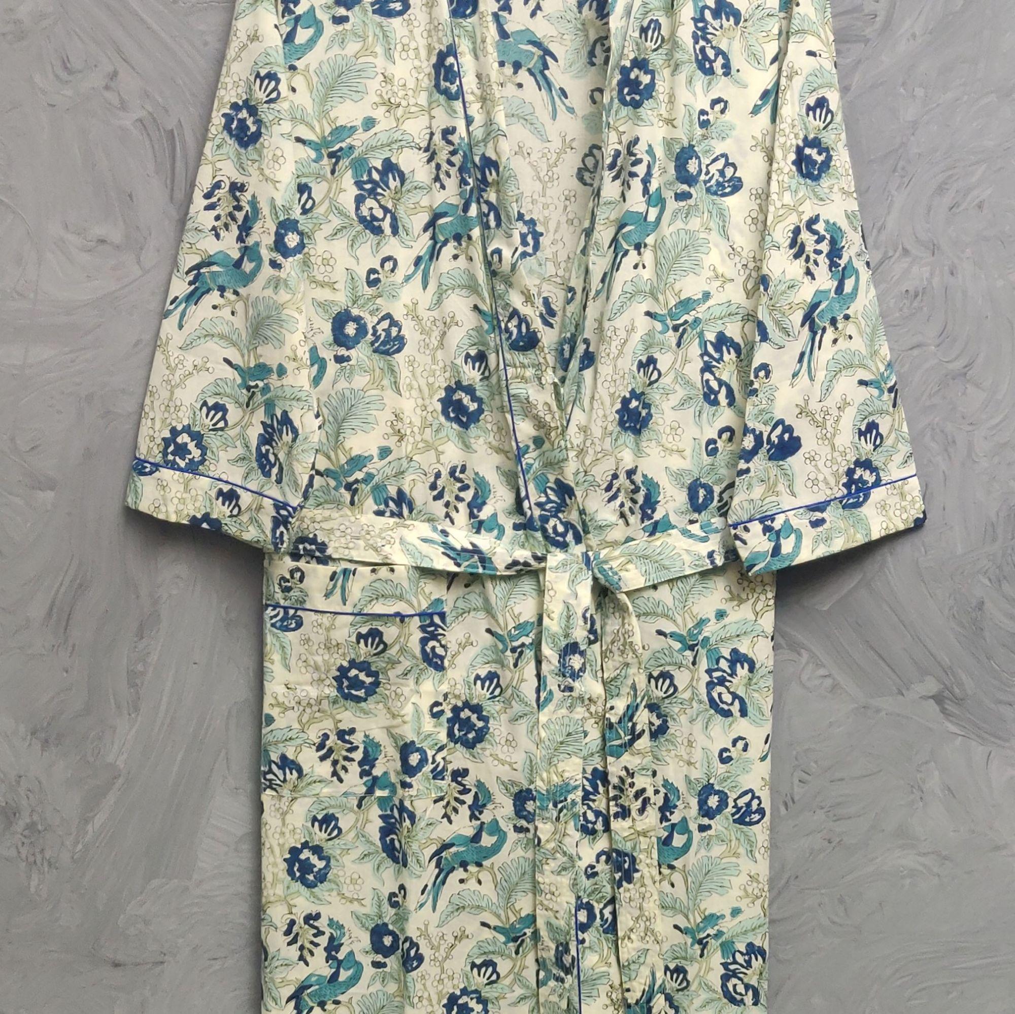 Handblock Housecoat/ Cotton Robe HCCR108