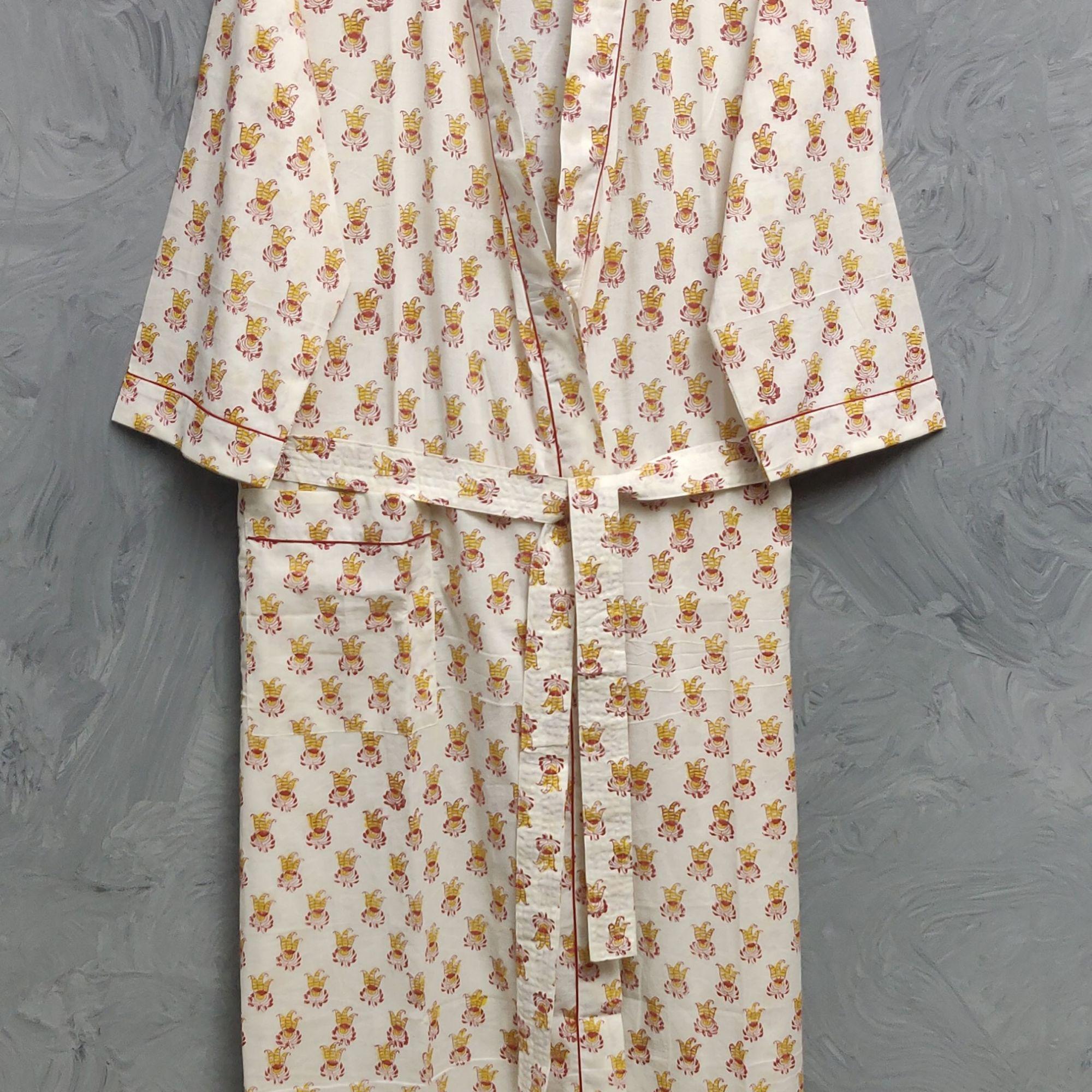 Handblock Housecoat/ Cotton Robe HCCR109