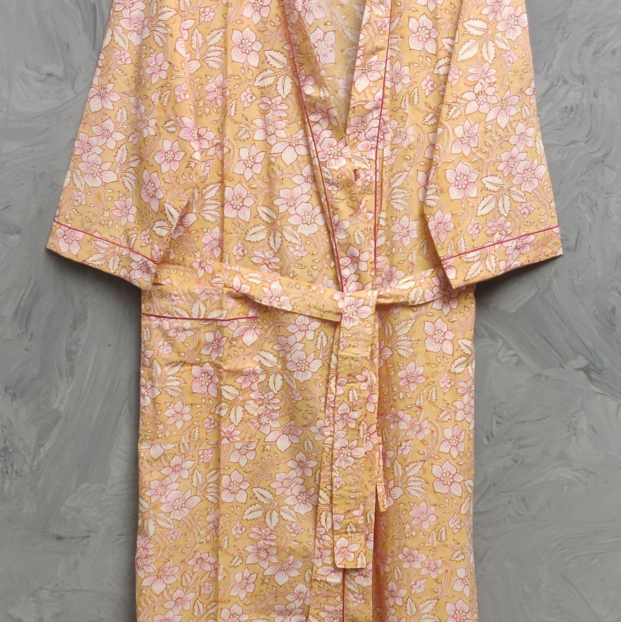 Handblock Housecoat/ Cotton Robe HCCR110