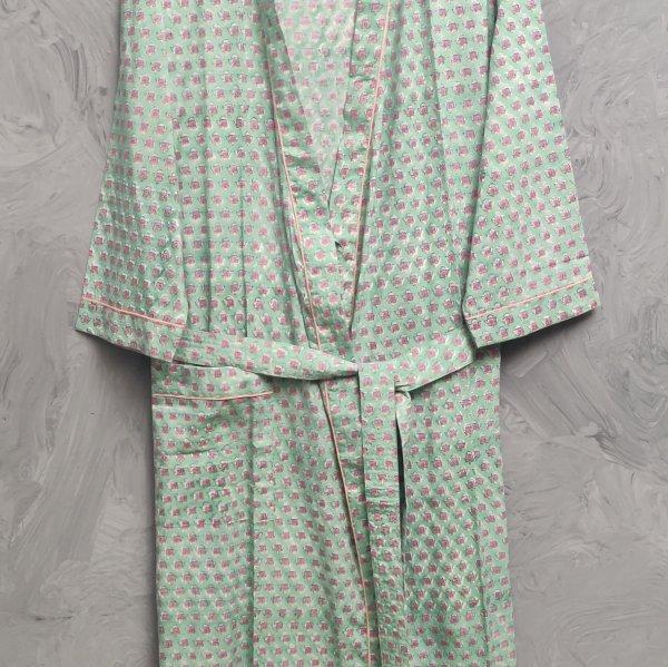 Handblock Housecoat/ Cotton Robe HCCR111