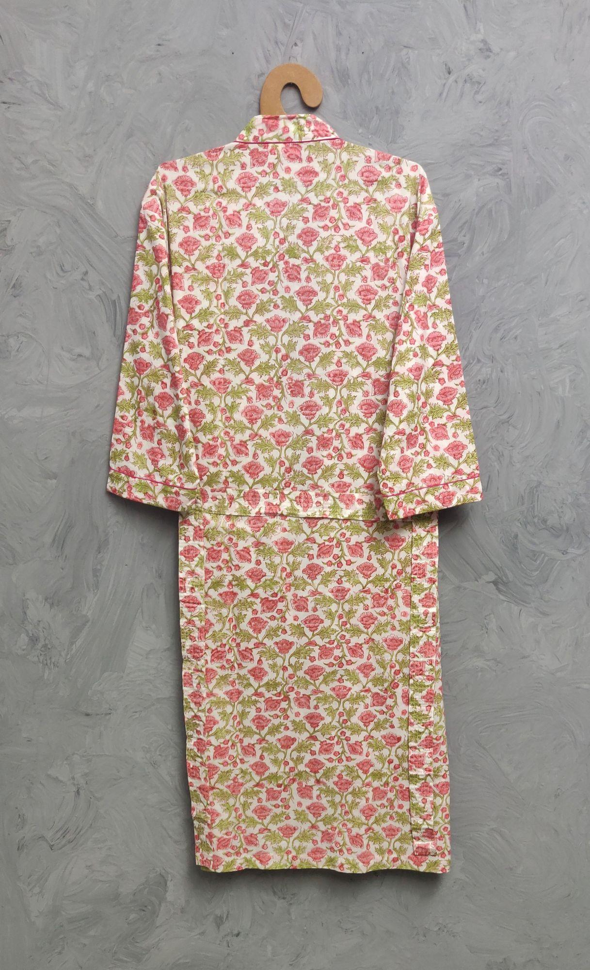 Handblock Housecoat/ Cotton Robe HCCR113