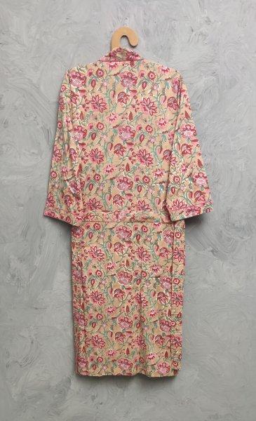Handblock Housecoat/ Cotton Robe HCCR115