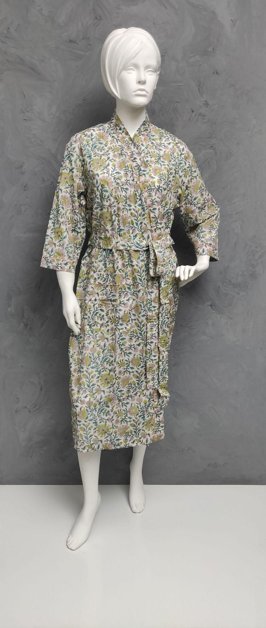 Handblock Housecoat/ Cotton Robe HCCR116