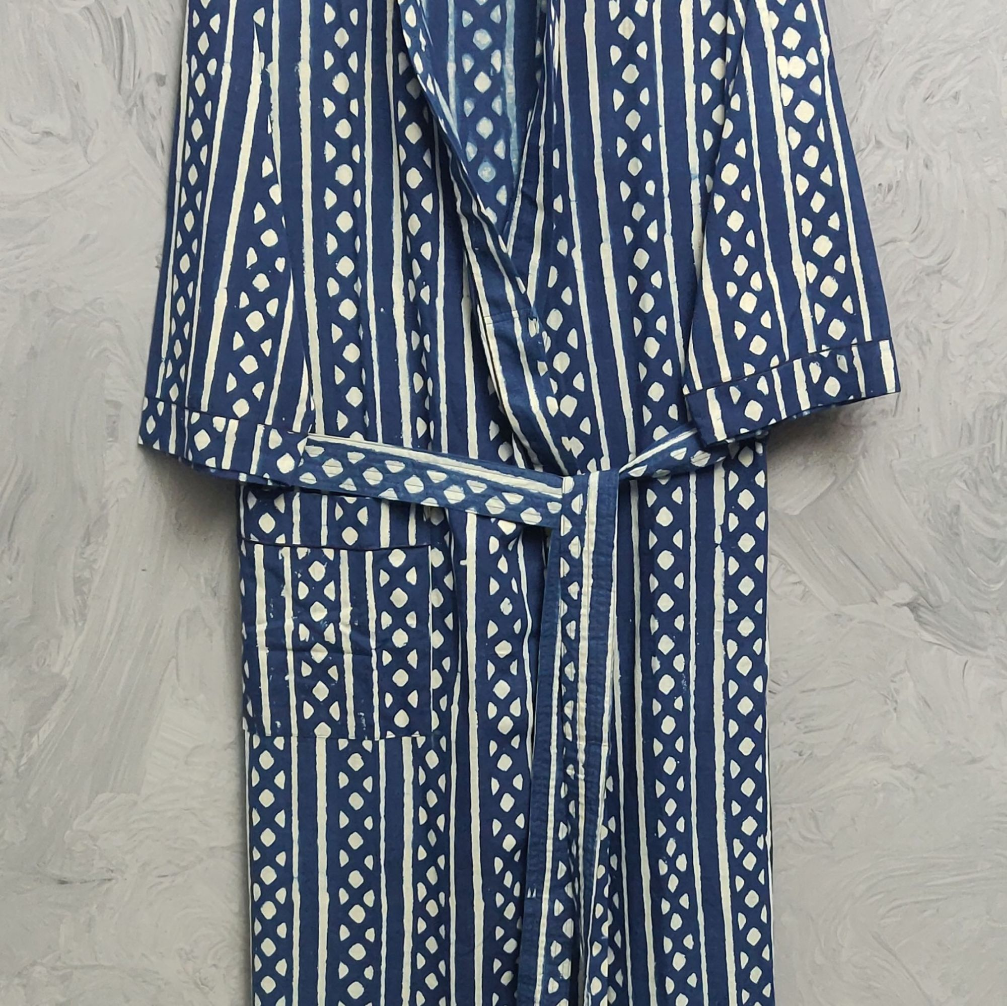 Handblock Housecoat/ Cotton Robe HCCR120
