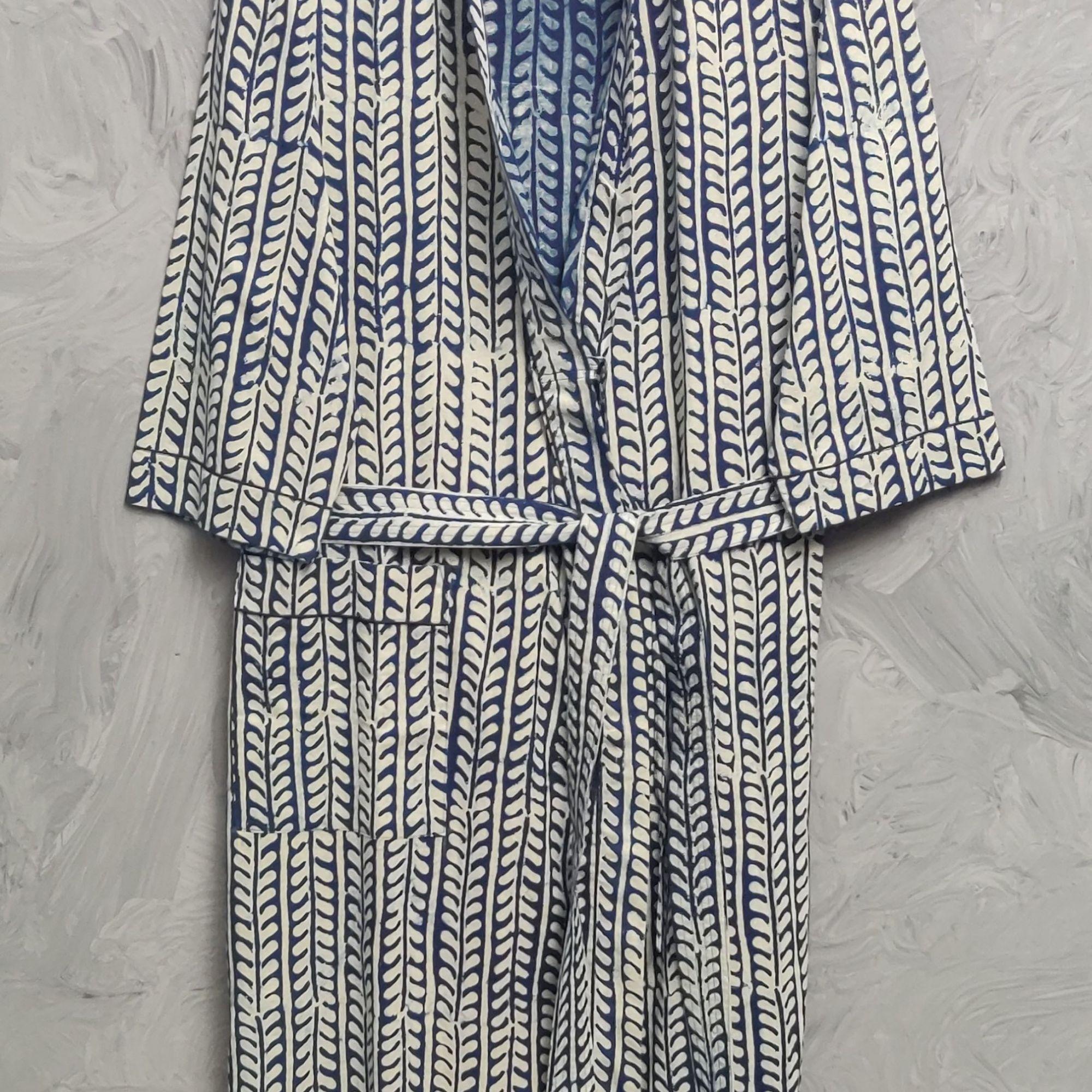 Handblock Housecoat/ Cotton Robe HCCR122